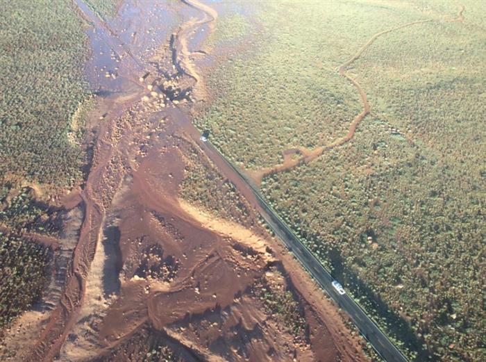 Mudslide Aerial View