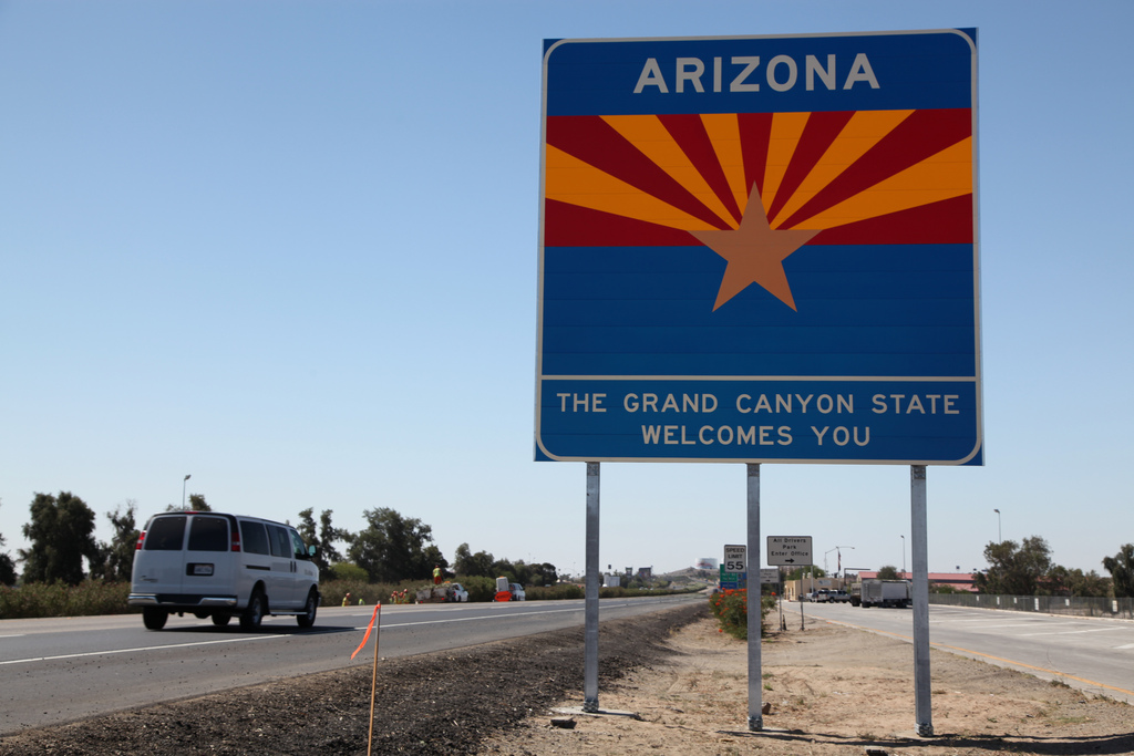 Grand Canyon State Welcome Sign