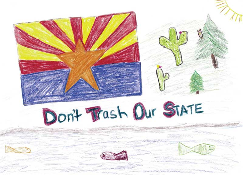 Drawing from the 2016 ADOT Safety Calendar
