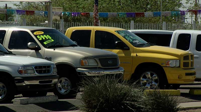 Vehicles for sale.
