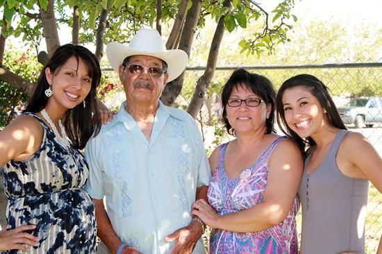 Celeste Machiche and her family