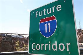Future Interstate 11 Corridor Highway sign