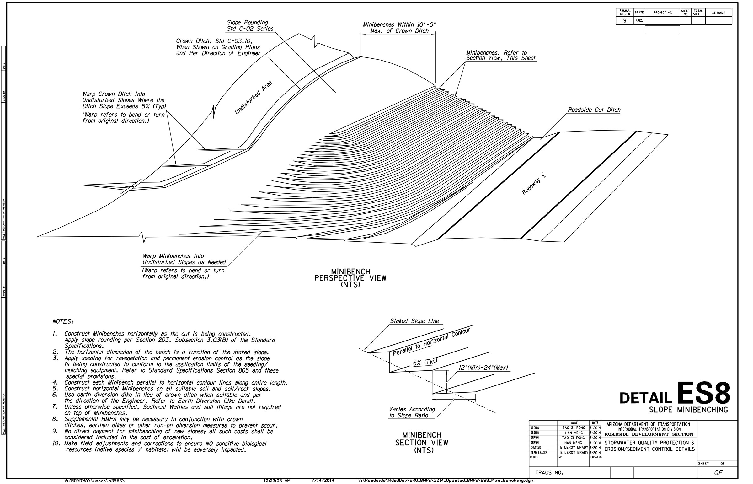 Minibench plan drawing.