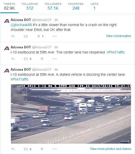 ADOT's Twitter page