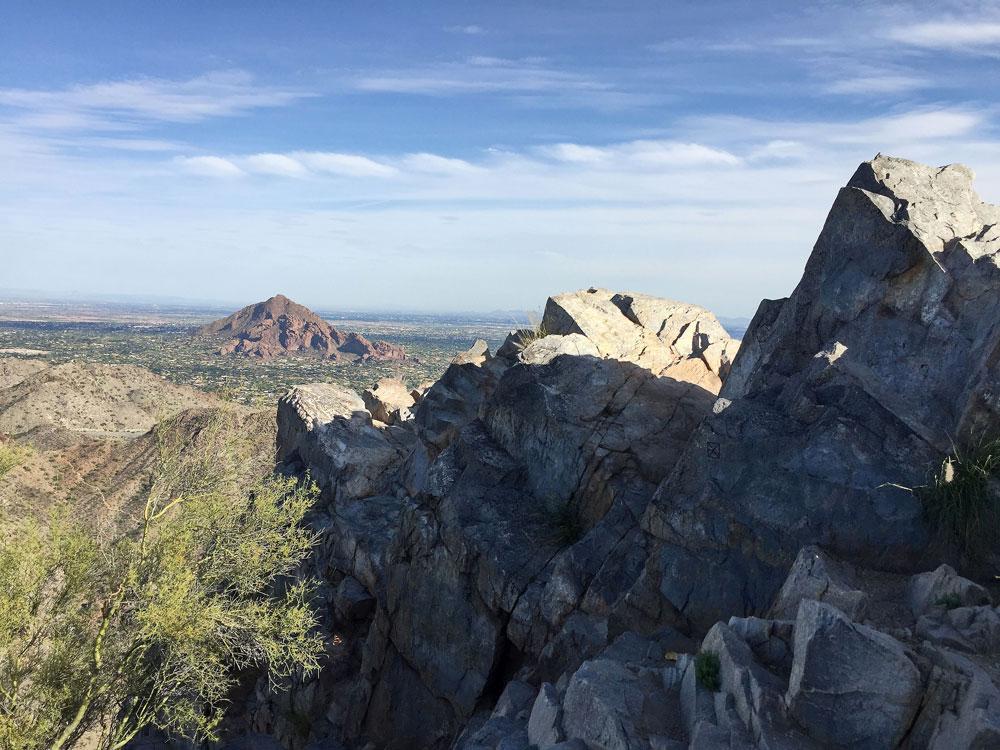 Rocky scenic vista