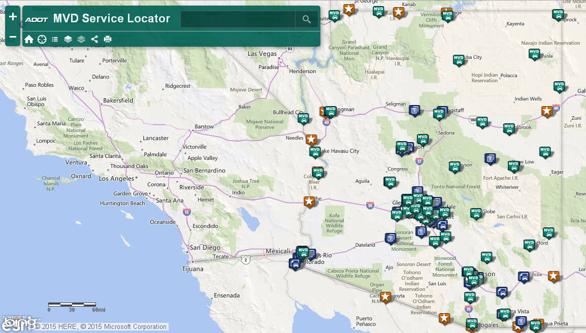 MVD office locations are identified on new interactive map