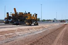 Paving machine on Loop 101