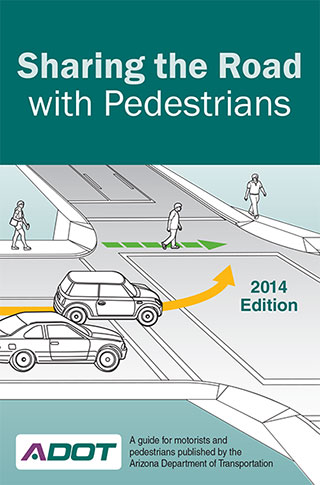 Sharing the Road with Pedestrians brochure cover