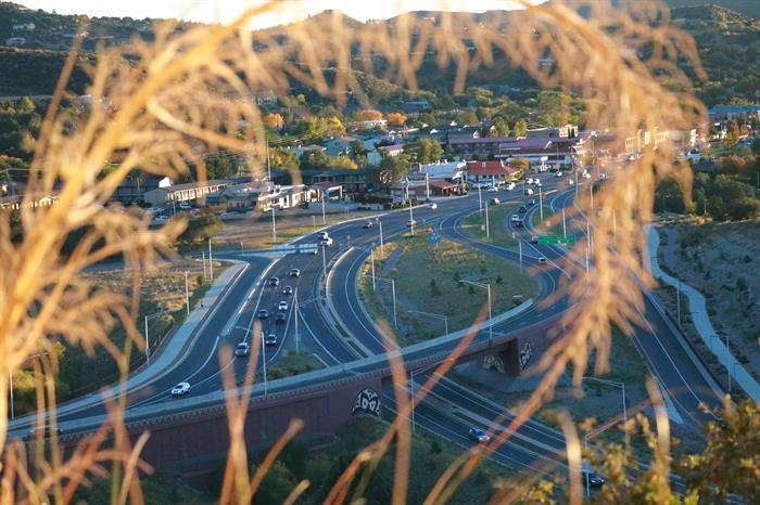 SR 69 and SR 89 traffic interchange in Prescott
