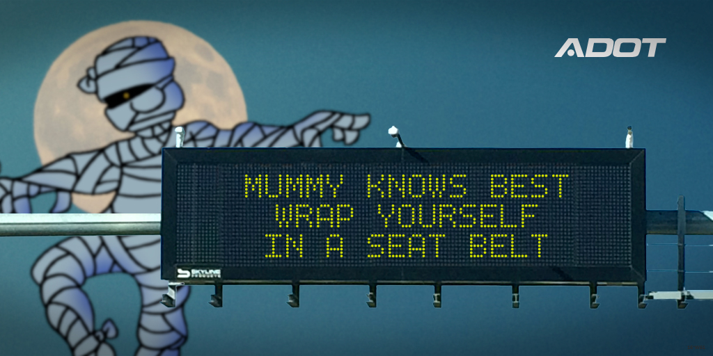 Mummy knows best - Wrap yourself in a seat belt.