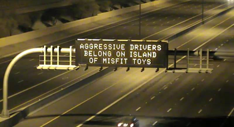Aggressive drivers belong on Island of Misfit Toys