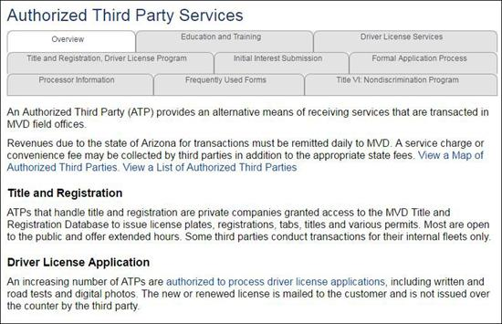 Authorized Third Party Services Page