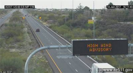 Traffic Camera: US 60 south of Wickenburg.