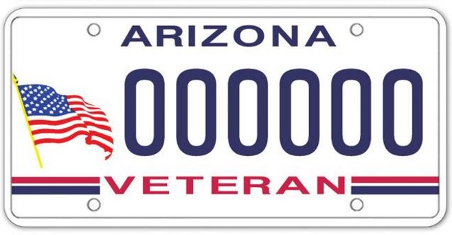Veteran Specialty License Plate Example