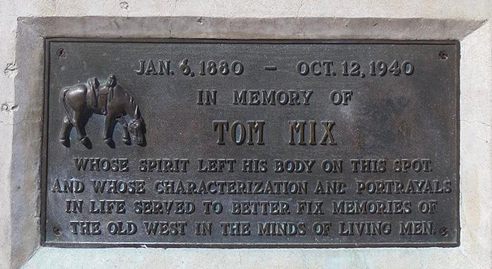 Tom Mix Plaque