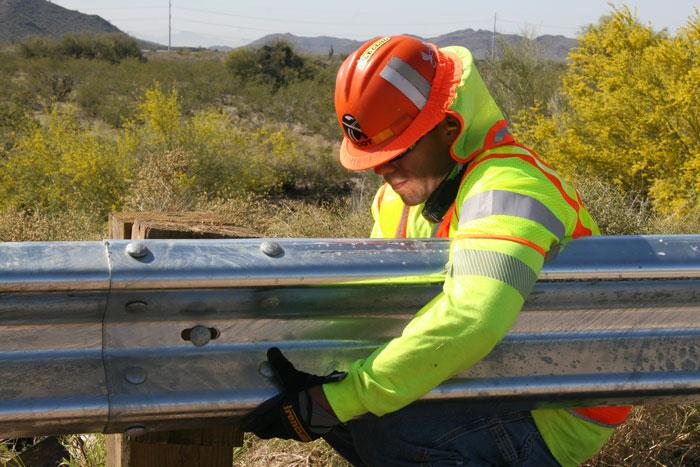 ADOT Replacing a guardrail