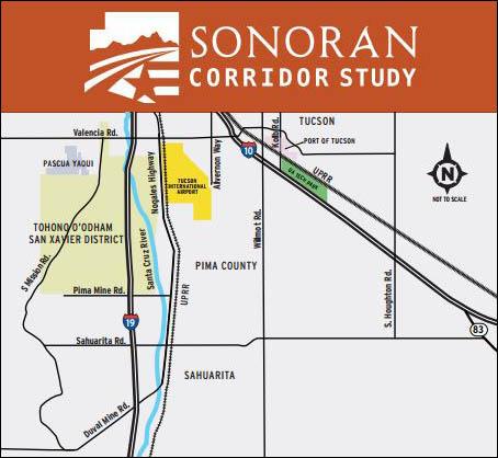 Sonoran Corridor Study Map