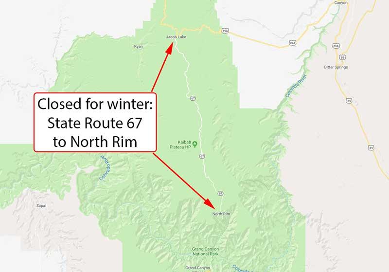 Winter Closure Map