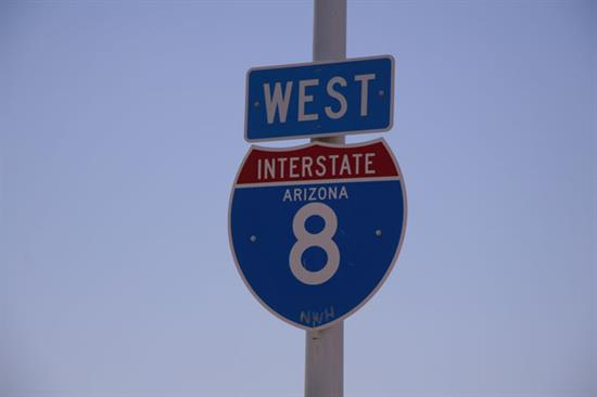 Interstate 8 road sign