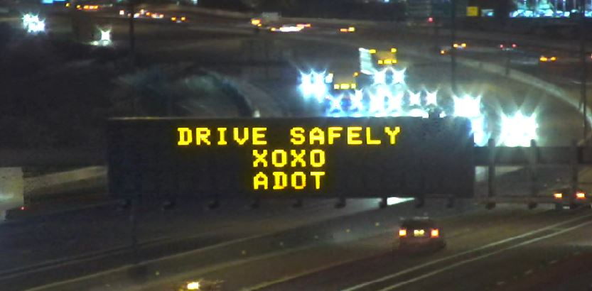 Drive Safely XOXO, ADOT