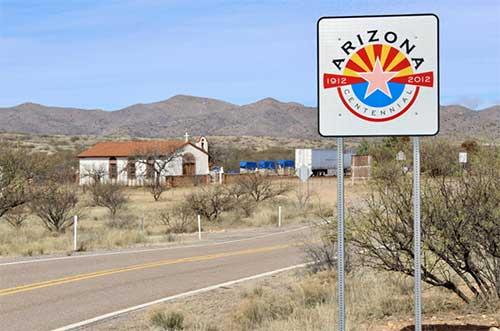 Arizona Centennial Sign