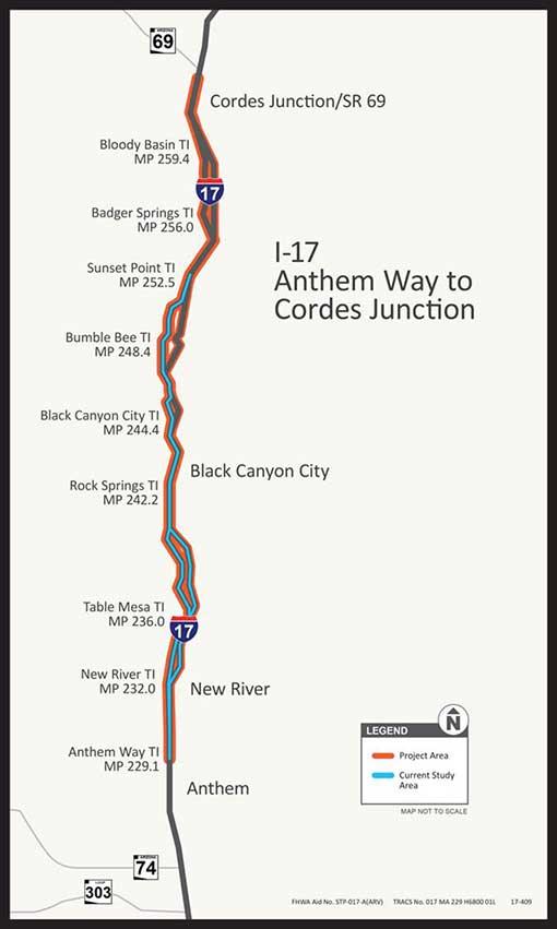 I-17 Anthem Way to Cordes Junction