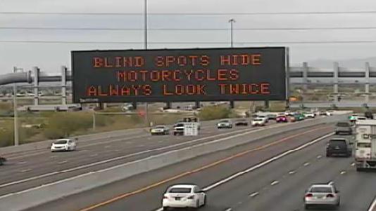 """""""Blind spots hide motorcycles - always look twice"""""""