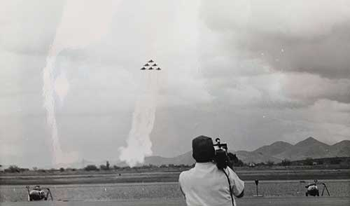 Filming the Airshow, Festival of Flight, 1978