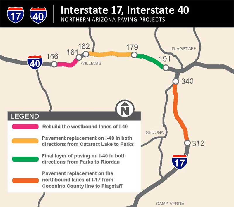 I-17 / I-40 Project Map