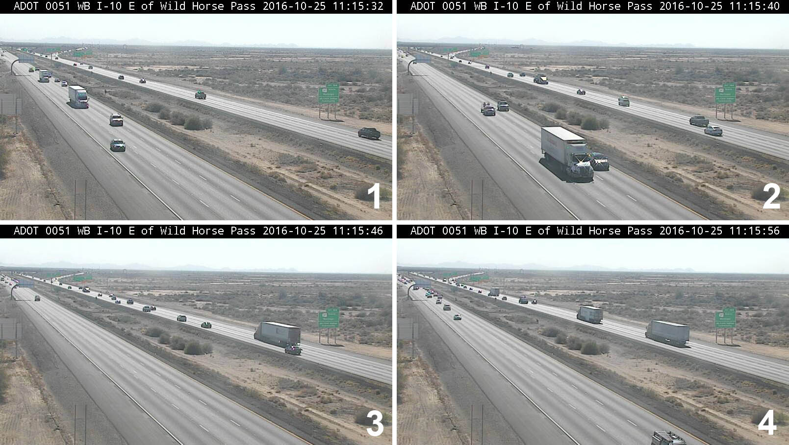 4 Traffic camera image with location in black bar at the top
