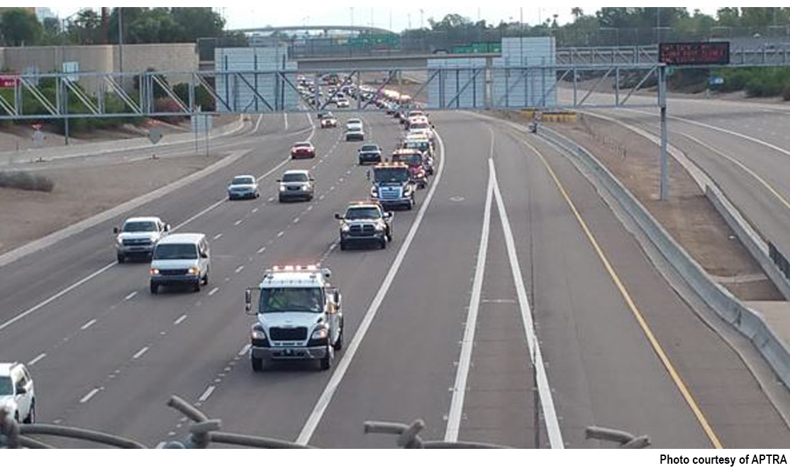 """Tow truck parade brings attention to Arizona's """"Move Over"""" law"""