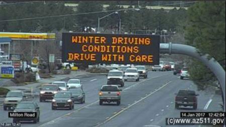 Traffic Camera: SR 89A and Milton Road in Flagstaff.