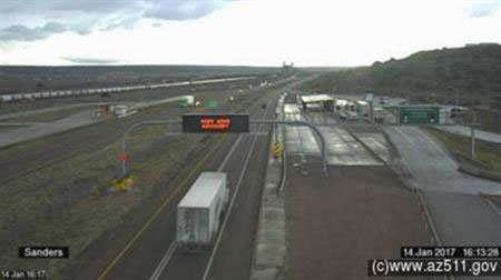 Traffic Camera: Sanders Port of Entry, I-40 milepost 340