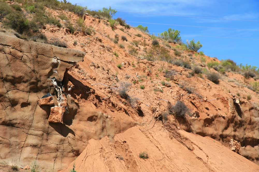 Repairs to the slopes along SR 87