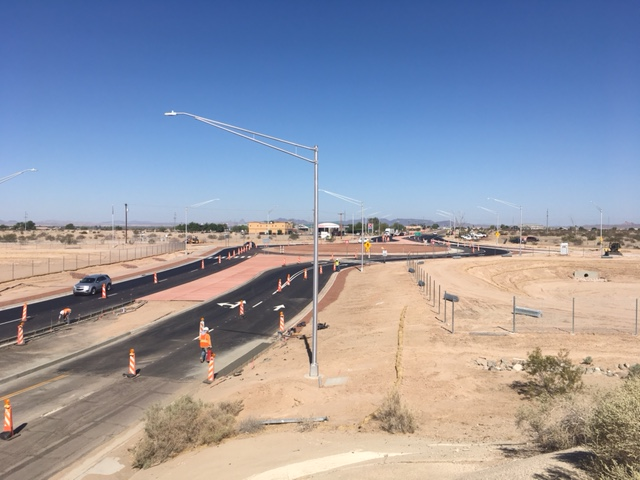 Roundabouts at the interchange of Interstate 8 and Araby Road in Yuma.