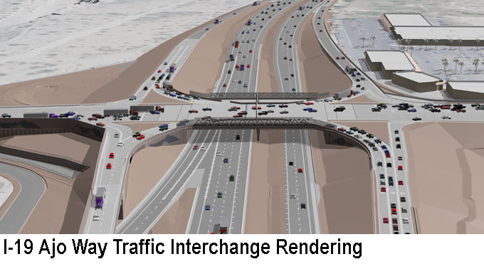 I-19 Ajo Way Traffic Interchange Rendering