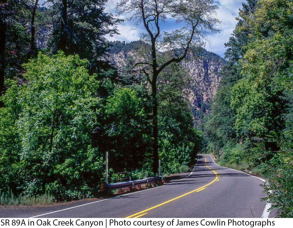 SR 89A in Oak Creek Canyon | Photo courtesy of James Cowlin Photographs