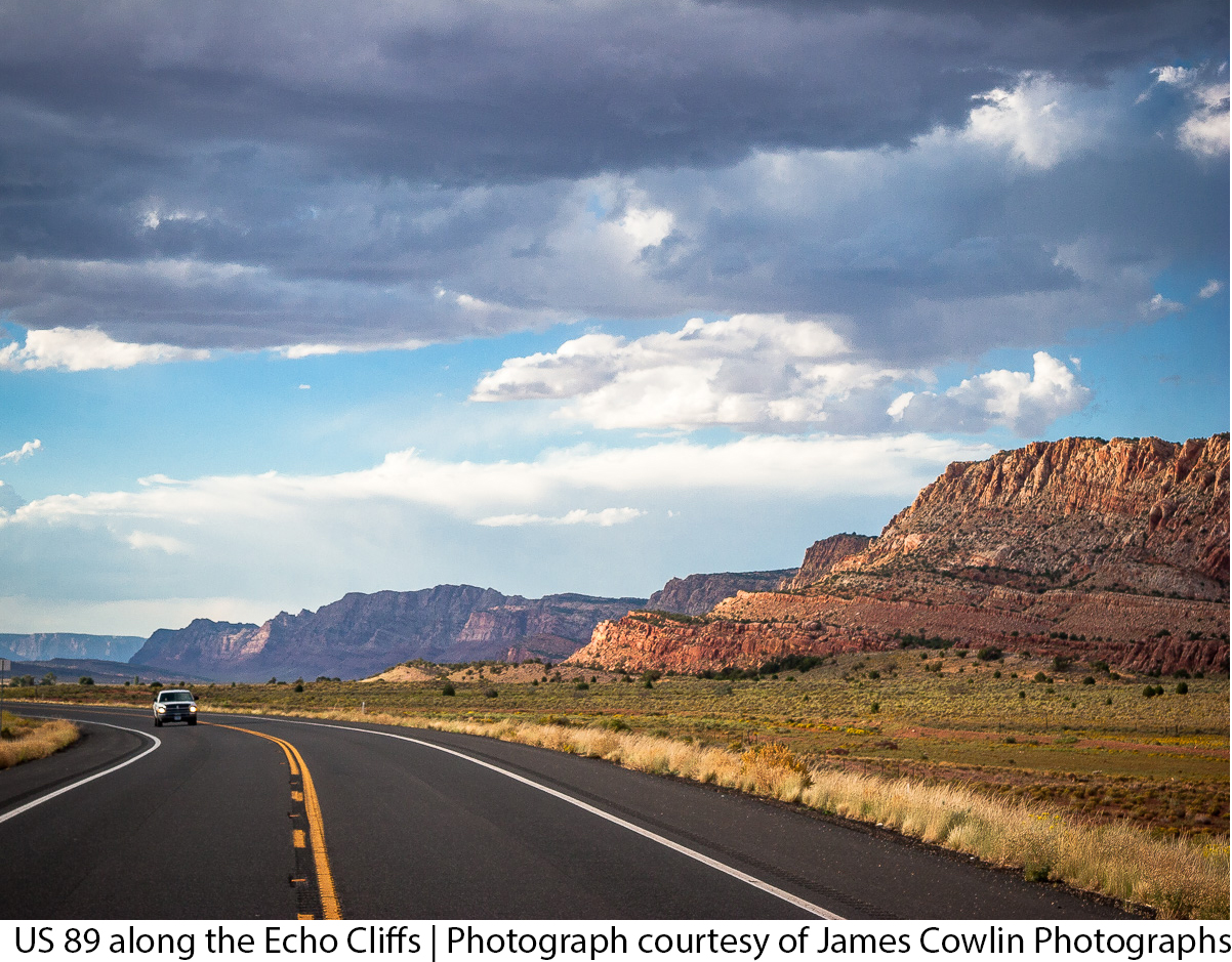US 89 along the Echo Cliffs | Photographs courtesy of James Cowlin Photographs