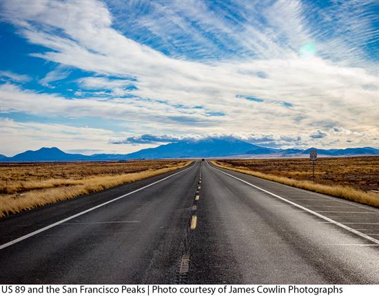 US 89 and the San Francisco Peaks | Photo courtesy of James Cowlin Photographs
