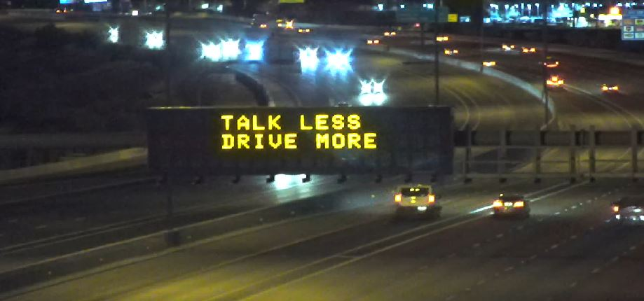Dynamic Message Sign: Talk Less Drive More