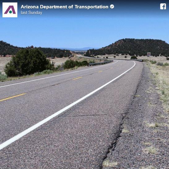 Curving roadway.