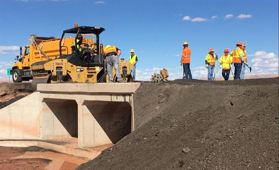 Crews repair washed out a section of US 89 between Flagstaff and Page.