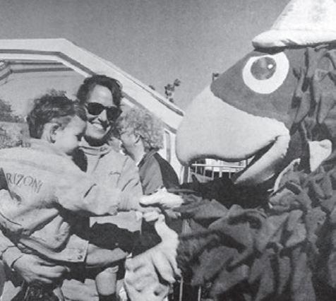 Highway Hawk shaking hands