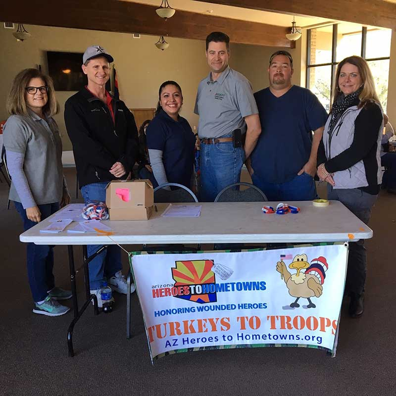 Turkeys for Troops event in Prescott Volunteers