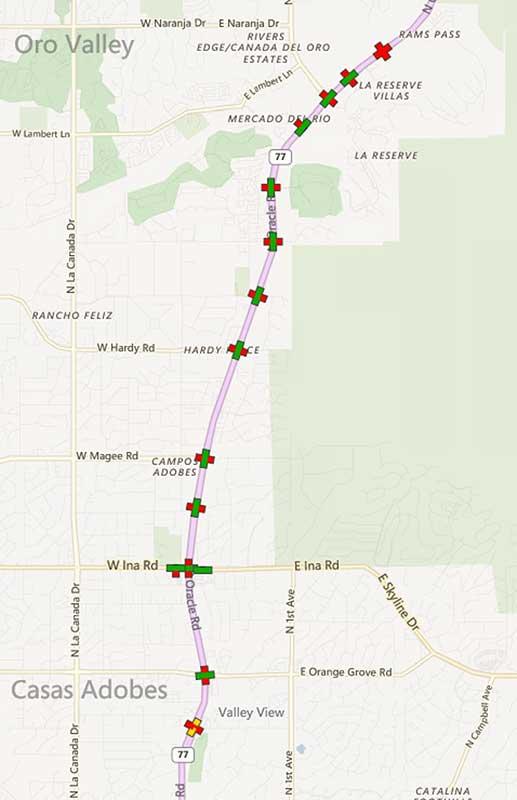 Traffic sensor map