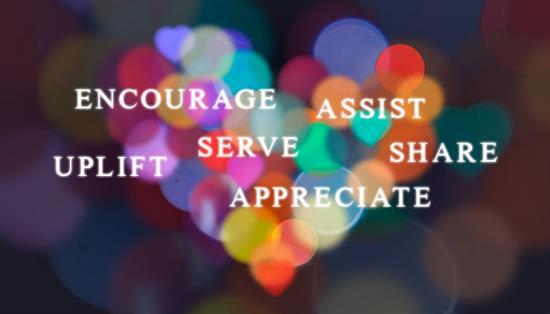 Encourage, Assist, Serve, Uplift, Share, Appreciate