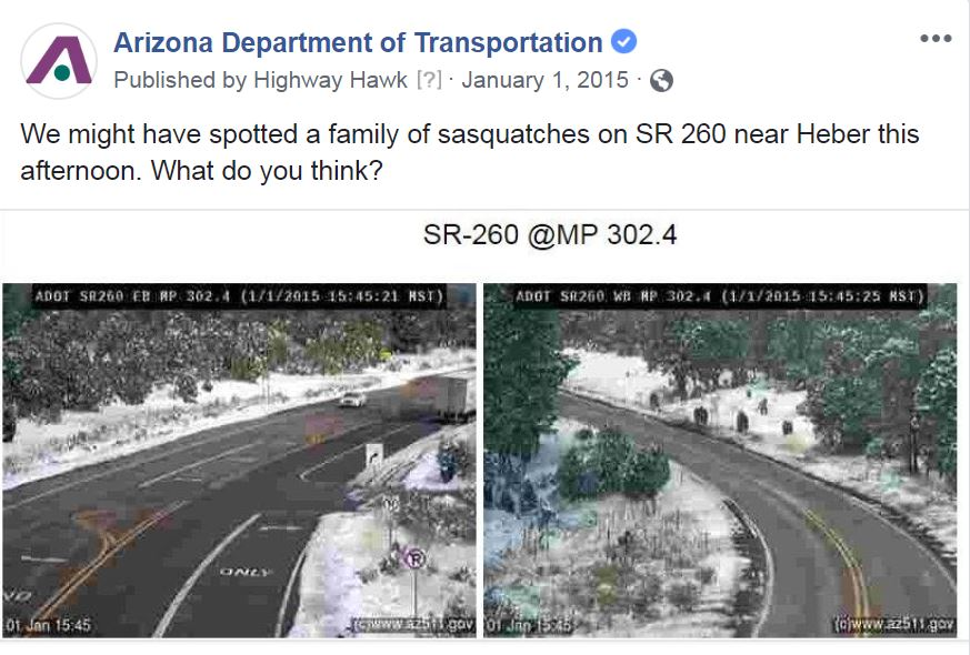 Screenshot of ADOT Twitter page.