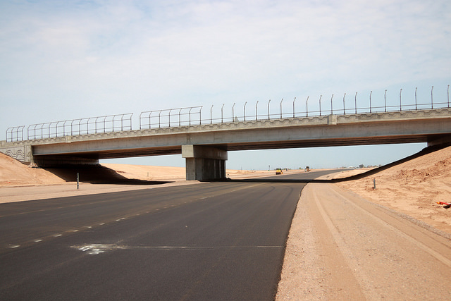 Paving under the Elliot Road overpass