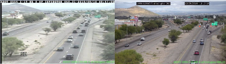 View of traffic from two of the new high definition camera.