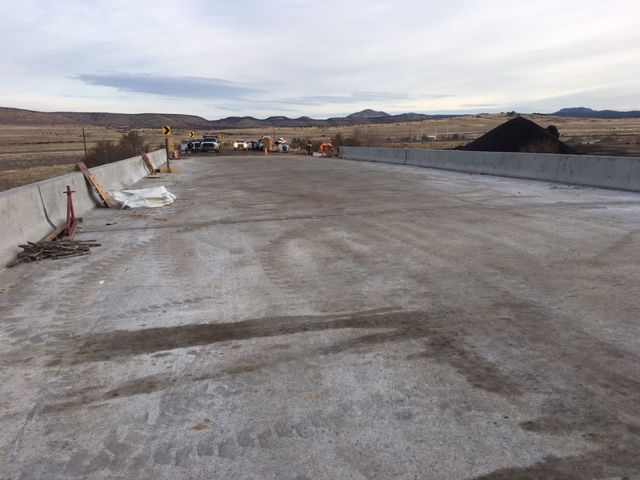 New bridge deck on Historic Route 66 overpass.